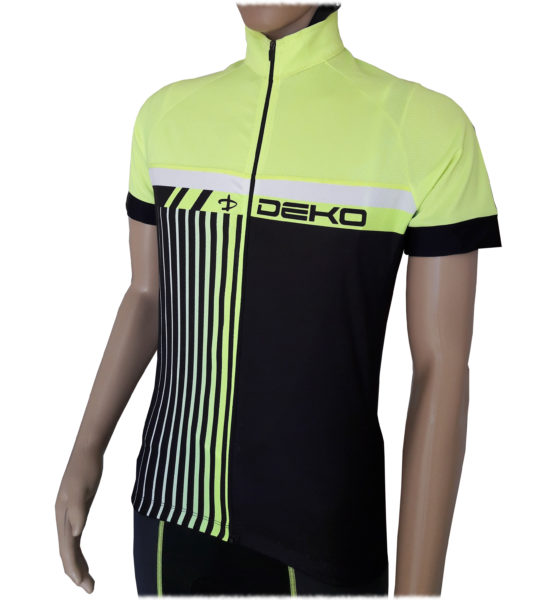 maglia estiva maniche corte modello style colore nero giallo fluorescente