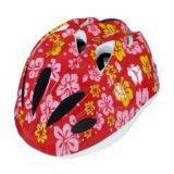 Casco bambina PDR KIRA, colore rosso con fiori