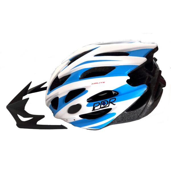 casco adulto pdr mv29 colore bianco azzurro