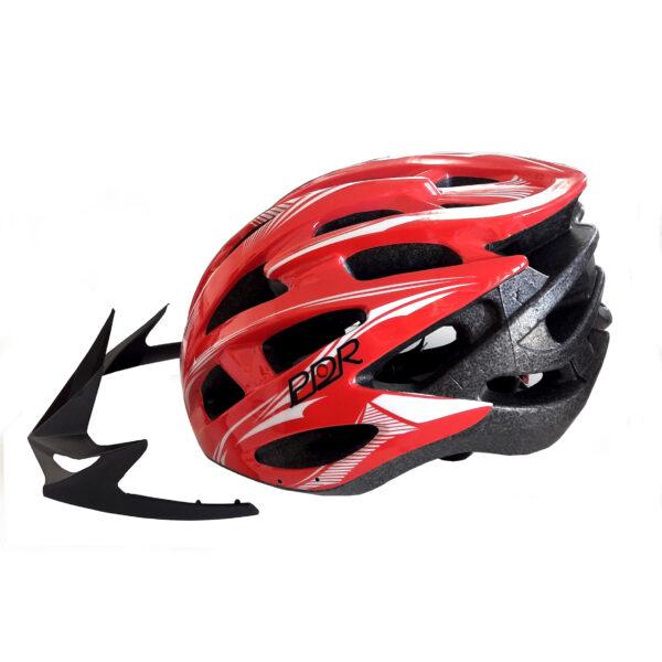 casco adulto pdr mv88 colore rosso bianco
