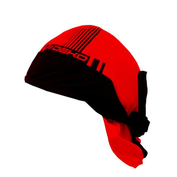 bandana estiva modello style colore nero rosso