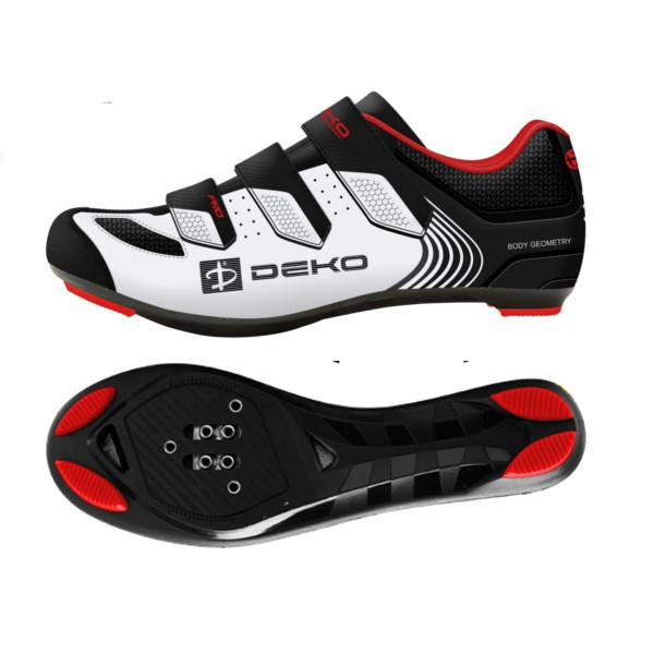 scarpe bici da strada modello fly colore bianco nero rosso