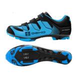 Scarpe mountain bike, modello Cross, colore blu/nero