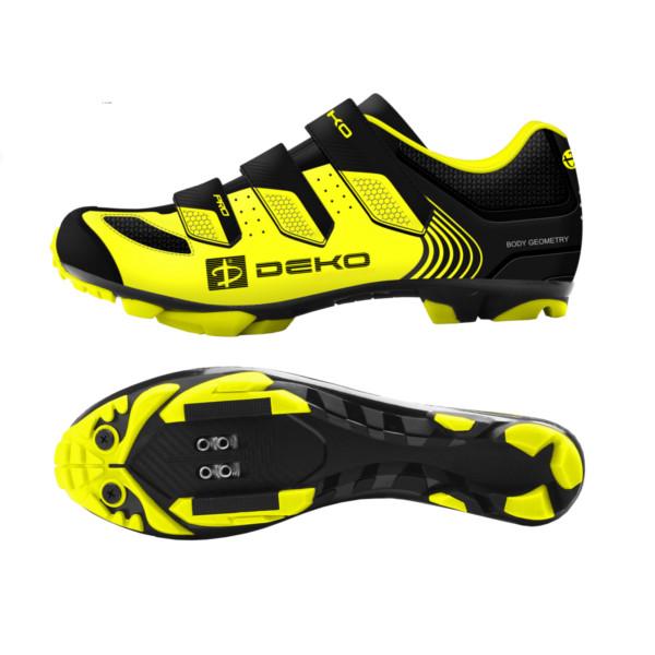 scarpe mountain bike modello cross colore giallo fluorescente nero