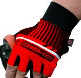 Guanti ciclista, modello Style, colore rosso/nero