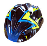 Casco bambino PDR ZETA, colore nero/blu/giallo