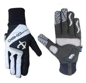 guanti deko velvet colore bianco nero