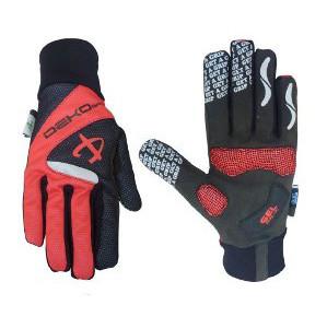 guanti deko velvet colore rosso nero