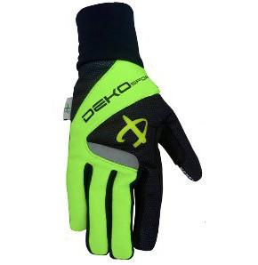guanti deko velvet colore verde fluorescente nero