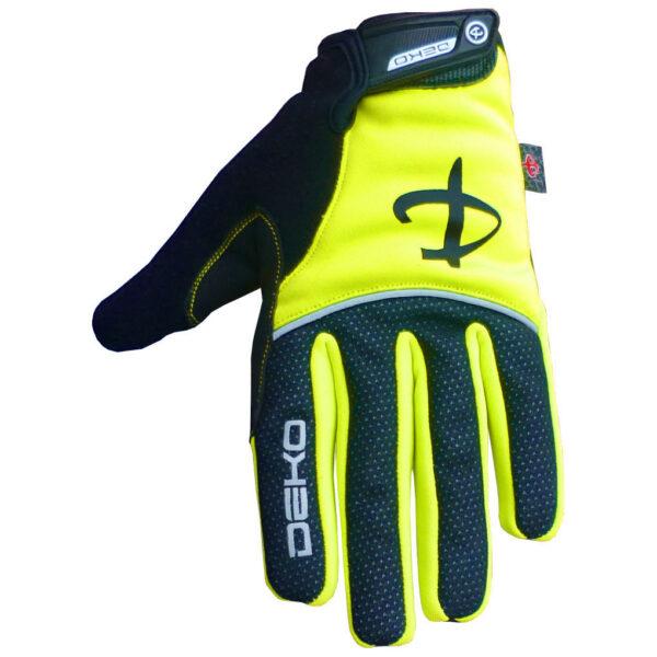 guanti deko tech colore giallo fluorescente nero