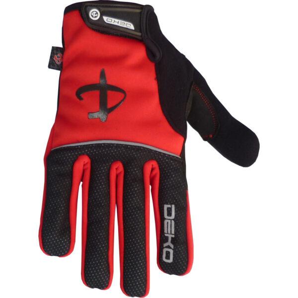guanti deko tech colore rosso nero