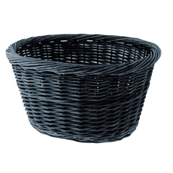 cestino anteriore in vimini colore nero
