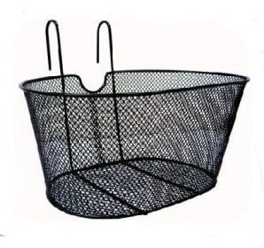cestino anteriore in ferro a rete colore nero con ganci
