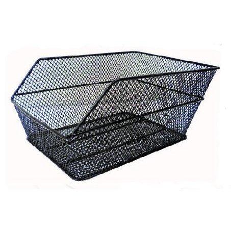 cestino posteriore in ferro a rete colore nero