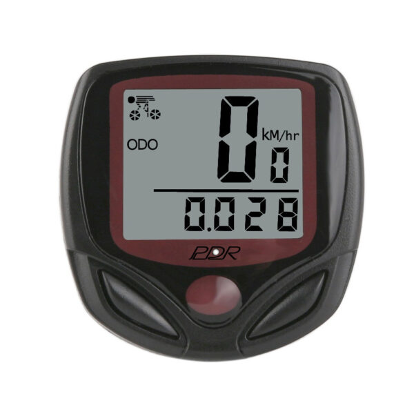 ciclocomputer pdr wired 08 colore nero rosso