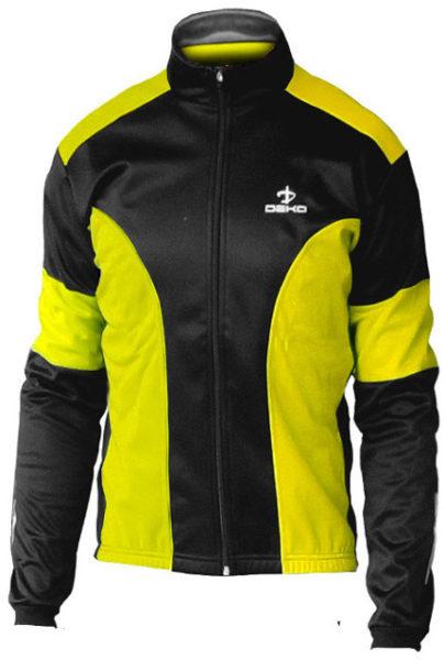giubbino ciclista deko leader colore giallo fluorescente nero