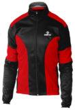 Giubbino ciclista DEKO LEADER, colore rosso/nero