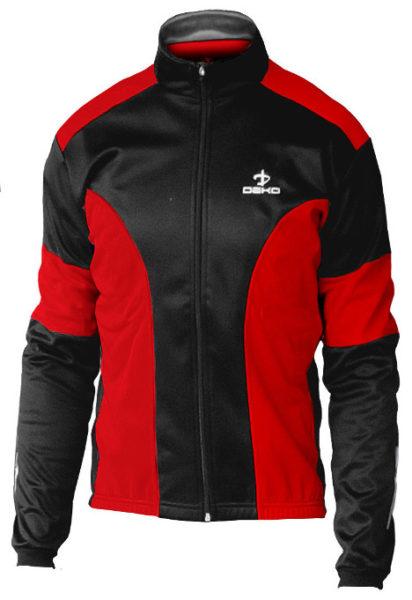 giubbino ciclista deko leader colore rosso nero