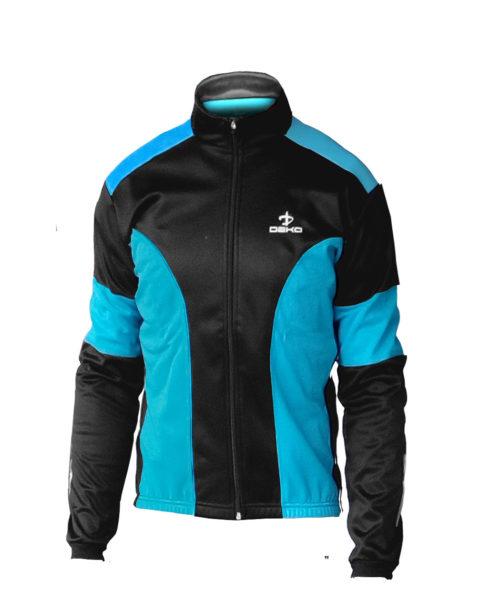 giubbino ciclista deko leader colore azzurro nero
