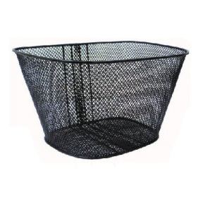 cestino anteriore in ferro a rete colore nero