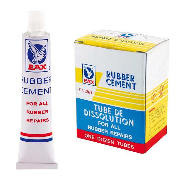 confezione mastice rubber cement 12 tubetti