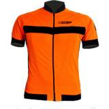 Maglia estiva maniche corte, modello AIR, colore arancio/nero