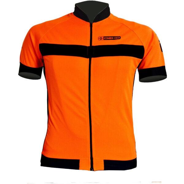 maglia estiva maniche corte air arancio nero deko sports