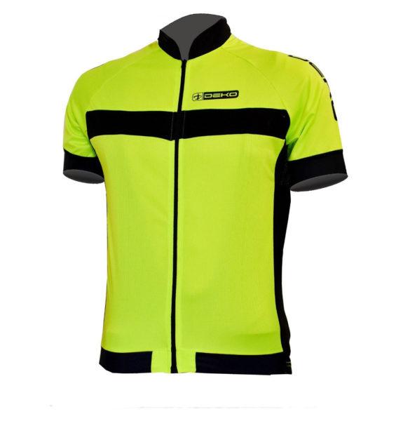 maglia estiva maniche corte air giallo fluorescente nero deko sports