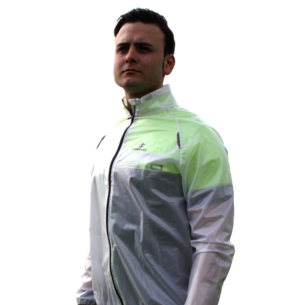 mantellina ciclista sheer bianca trasparente deko sports