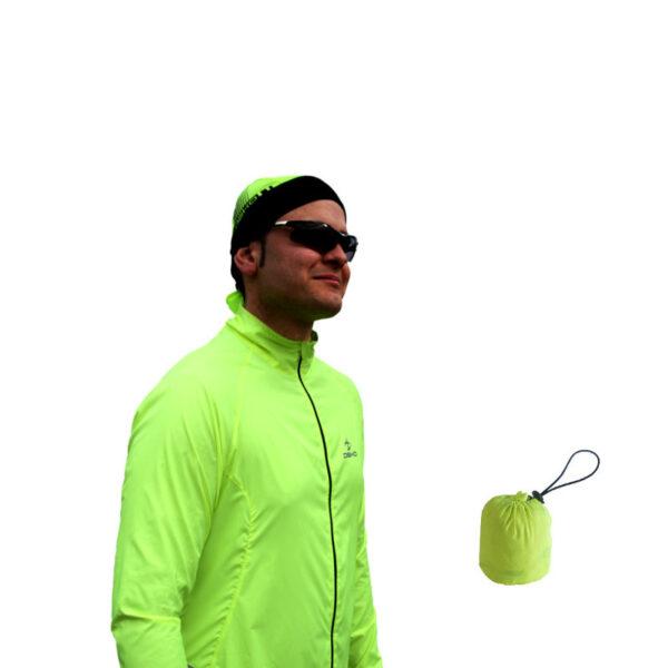 mantellina ciclista soft giallo fluorescente deko sports