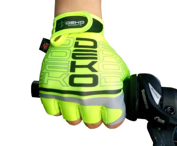guanti start giallo fluorescente nero deko sports