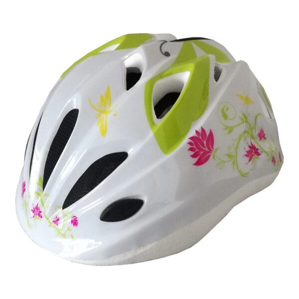 casco bambina pdr daisy bianco con fiori