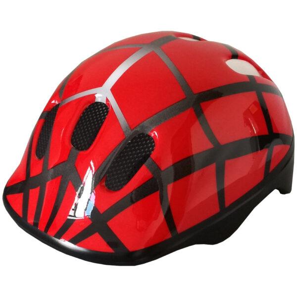 casco bambino pdr spider rosso