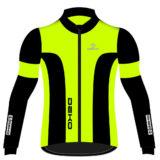 Giubbino ciclista DEKO LEADER 2, colore giallo fluorescente/nero