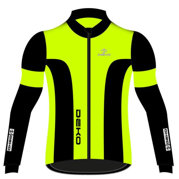 giubbino invernale leader 2 deko giallo fluorescente/nero