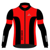 Giubbino ciclista DEKO LEADER 2, colore rosso/nero