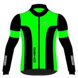 Giubbino ciclista DEKO LEADER 2, colore verde fluorescente/nero