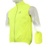 Gilet ciclista antipioggia antivento modello Fresh colore giallo fluorescente