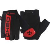 Guanti ciclista, modello Line, colore nero/rosso