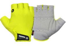 Guanti ciclista, modello Race, colore giallo fluorescente