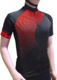 Maglia estiva maniche corte, modello Tech, colore nero/rosso