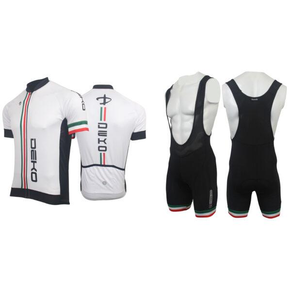 completo estivo Deko Sports Flag bianco/tricolore